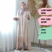 LEONY HOMEY DRESS Baju Atasan Muslim Wanita Gamis Dress Wanita Terbaru