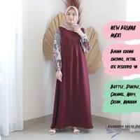 BRIANA MAXI Baju Atasan Muslim Wanita Gamis Dress Fashion Muslim