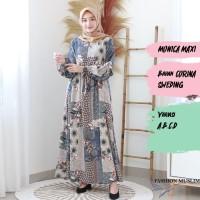 MONICA MAXI Baju Atasan Muslim Wanita Gamis Dress Fashion Muslim