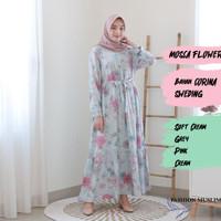 MOSCA FLOWER MAXI Baju Atasan Muslim Wanita Gamis Dress Fashion Outfit