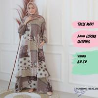 TASIA MAXI Baju Atasan Muslim Wanita Gamis Dress Fashion Outfit Muslim
