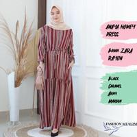 ANAYA HOMEY DRESS Baju Atasan Muslim Wanita Gamis Dress Fashion Wanita