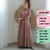 SAFIRA MAXI Baju Atasan Muslim Wanita Gamis Dress Fashion Muslim