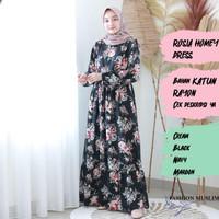 ROSIA HOMEY DRESS Baju Atasan Muslim Wanita Gamis Dress Fashion Wanita
