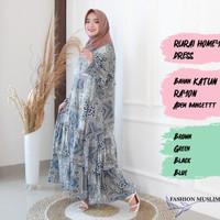 RURAI HOMEY DRESS Baju Atasan Muslim Wanita Gamis Dress Wanita Muslim