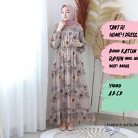 TANTRI HOMEY DRESS Baju Atasan Muslim Wanita Gamis Dress Wanita Muslim