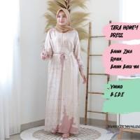 TARA HOMEY DRESS Baju Atasan Muslim Wanita Gamis Dress Fashion Outfit