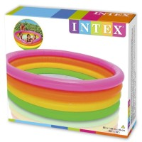 New kolam renang Intex anak jumbo 4 ring rainbow 56411