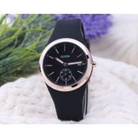 jam tangan GUESS RUBBER MODEL AC BIRU TOSCA DAN PINK