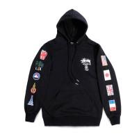 Stussy World Tour Flags Hoodie Black ORIGINAL TERBARU NEW 2020