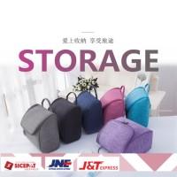 Korean Travel Cosmetic Toiletries Bag -Tas Makeup Kosmetik DENIM A602