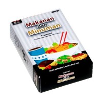 Mainan Edukasi Anak Konsep Flash Card Kartu Makanan Minuman Food Drink