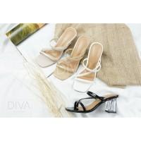 SEPATU HAK KACA WANITA HEELS PREMIUM LOCAL 5 CM 7 CM - Diva Shoes 20