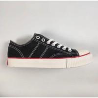 Sepatu Sekolah- Warrior Classic Low Cut Black White Original Made in