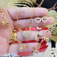 xuping set perhiasan lapis emas 24k BD15