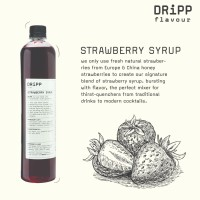 Dripp Strawberry Syrup - SIrup rasa Strawberry