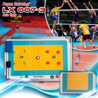 Papan Strategi Pelatih Taktik Team Bola Voli Coach Volley Ball Board