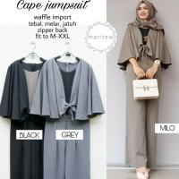 CAPE JUMPSUIT murah baju gamis wanita muslim terbaru setelan one set