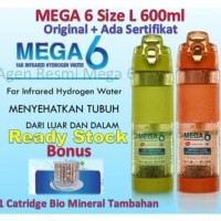 Botol Mega 6 Far Infrared Hydrogen Water (Free Gelang Black Jade) -