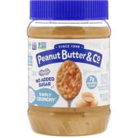 Peanut Butter & Co and co SIMPLY CRUNCHY No Added Sugar, made in USA
