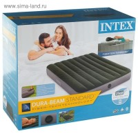 INTEX Kasur Angin Durabeam Airbed 64762 Double Built in Foot Pump