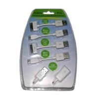 Kabel Pro-02 Putih untuk iPhone, iPod, iPad, Nokia, Motorola, Samsung,