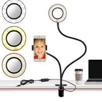 Lazypod Holder Flexible 3 In 1 Ring Light LED Flexible Stand