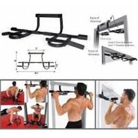 Iron Gym Pull Up Bar Alat Fitness Olah Raga Pembentuk Otot Tubuh As Se