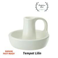 Tempat Lilin IKEA Godtagbar (keramik/putih)