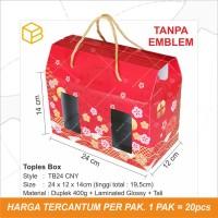 Box Toples Kue Kering Packaging Imlek Sincia CNY Hampers   TB24 CNY