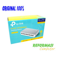 TP-LINK TL-SF1008D : TPLink 8 Port 10/100Mbps Desktop Switch Hub