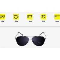 Kacamata Hitam Polarized Sunglasses Aviator Style Anti UV - SILVER