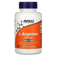 Now Foods L-Arginine 500 mg, 100 Veg Tabs ORI USA