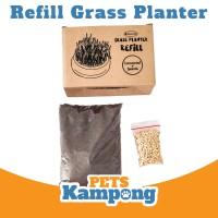 Refill Bibit Cat Grass Opo Cat Grass Planter