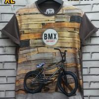 Kaos 3D Size XL Fullprint Thai Cotton Combed 30s Baju Sepeda BMX Rider