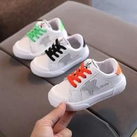 Sepatu Anak sport Lampu LED Sepatu Sneakers Olahraga Breathable Dengan