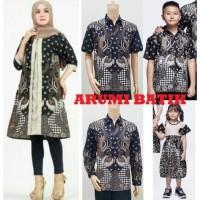 Set Batik Sarimbit Keluarga Muslim Muslimah Kemeja Tunik 2773
