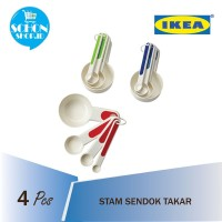 Sendok Takar Dapur Ukur Bumbu IKEA Stam /Cup Measuring Spoon set isi 4