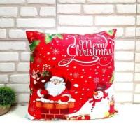 Sarung Bantal Natal Hadiah Dekorasi Christmas Murah Pillow Case Merah