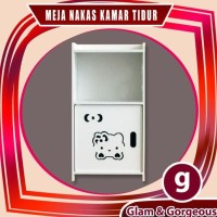 PROMO Nakas Meja Kamar Tidur Lemari Kabinet Mini Portable Kayu WPC