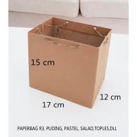 TERBARU paper bag polos paperbag coklat ukuran 17 x 15 tas kertas R3