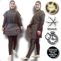 Baju Celana Renang Wanita Muslimah Jumbo Motif Cantik Gratis Kerudung