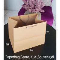 TERBARU paperbag polos paper bag coklat kotak kue bento tas kertas