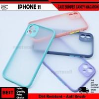 Iphone 11 12 Mini Pro Max Case Matte Bumper Candy Lensa Macaron