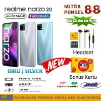 REALME NARZO 20 RAM 4/64 GARANSI RESMI REALME INDONESIA