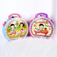 Mainan Anak Kitchen Set Koper 2 in 1 Koper Meja Masak Masakan Aroma
