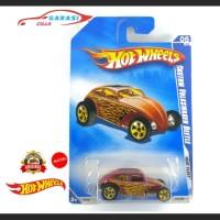 Hotwheels Custom Volkswagen Beetle Heat Fleet Cokelat