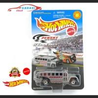 Hotwheels Miniatur Diecast S'cool Bus Penske Auto Center Abu Abu