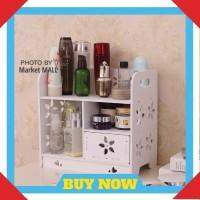 Rak Kosmetik Kayu Susun Vintage Minimalis Kotak WPC Tempat Makeup