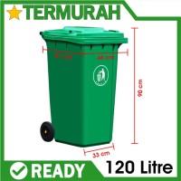 Tong Sampah Tempat Dustbin BESAR 120 Liter 120L litre Hijau Besar Roda